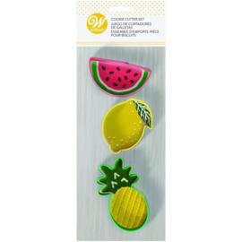 Wilton   Cookie cutters Pineapple Watermelon & Lemon (set/3)