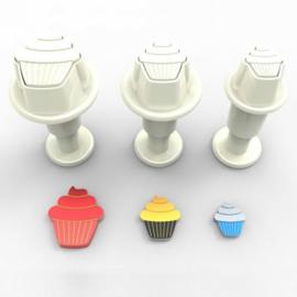 DekoFee | Plunger Cutters mini Cupcakes (set/3)