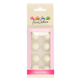 FunCakes | Chocoballetjes Parelmoer Wit Set/8