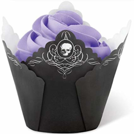 Wilton Baking cups Pleated skull/15