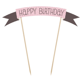 PartyDeco | Cake topper sweets Happy birthday