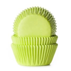 HoM   Baking cups Lime green (set/50) (normaal)