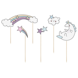 PartyDeco | Cake toppers Unicorn (set/5)
