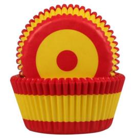 HoM   Baking cups Spaanse Vlag (set/50) (normaal)