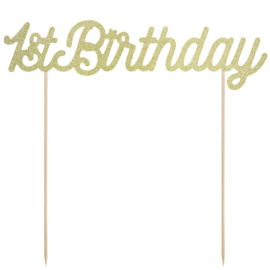 Partydeco | cake topper 1st birthday gold