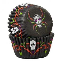 Wilton Mini Baking cups deadly soiree 100 stuks