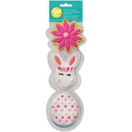 Wilton | Cookie cutter set Flower Bunnyhead Egg