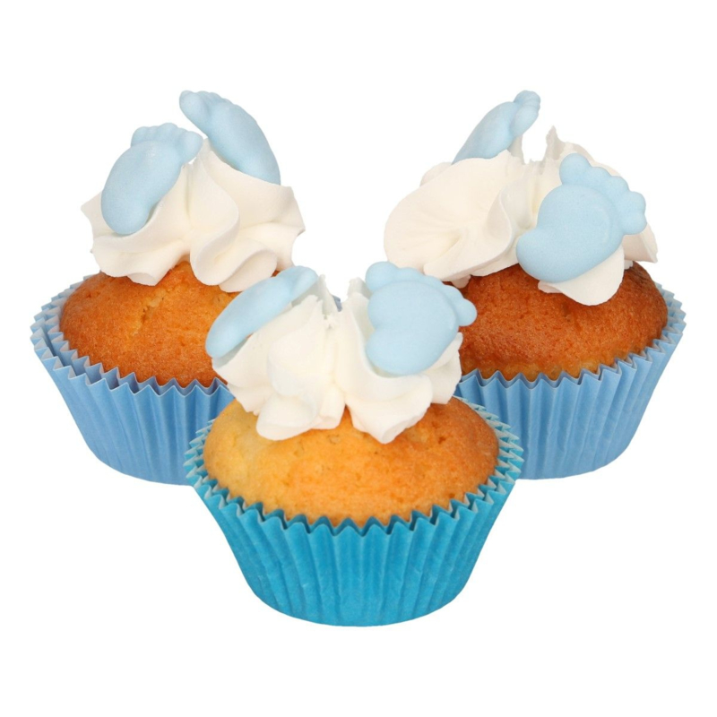Funcakes | suikerfiguren voetjes blauw/16