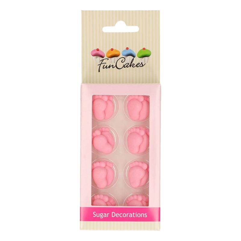 Funcakes | suikerfiguren voetjes roze/16