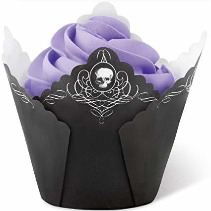 Wilton Baking cups Pleated skull/15