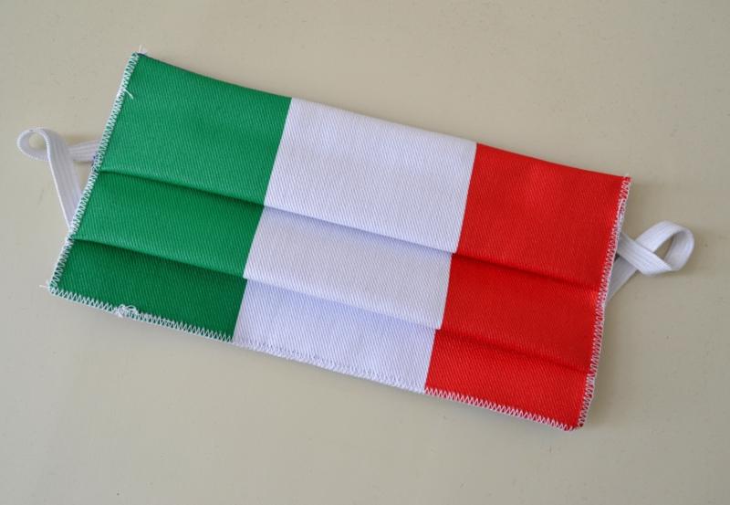 Mondkapje Tricolore Italiaanse vlag