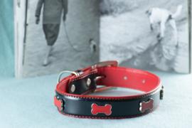 Petcomfort  halsband zwart/rood