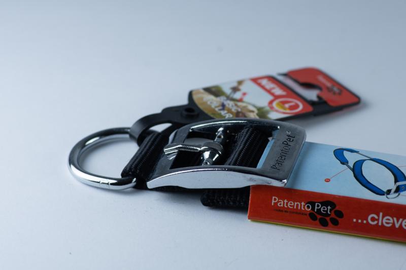 Patentopet halsband met handvat