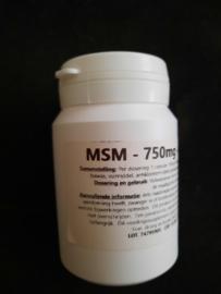 MSM 750mg 75st