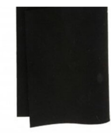 Truefelt 180 cm breed per 10 cm 540 zwart