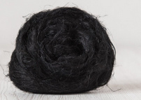Vlas zwart per 10 gram
