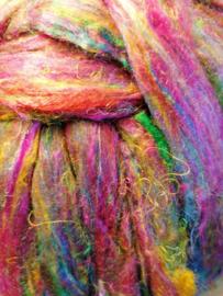 Sarizijde bont gekleurd per 10 gram