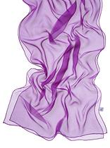 Chiffonzijde sjaal 230  x 55 cm purper violet 66+