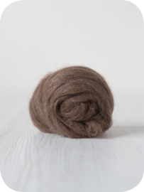 Alpaka natuurlijk donker bruin per 10 gram