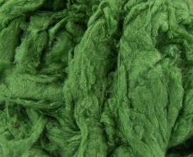 Tussahzijde dons per 10 gram groen