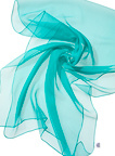 Chiffonzijde sjaal 180 x 55 cm turkoise groen 64