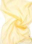 Chiffonzijde sjaal 180 x 55 cm geel 20
