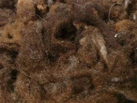 Wol met krullen 10 gram bruintinten