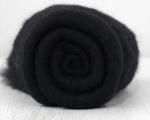 NIEUW Merino vlies 19 mic Dark (zwart) per 25 gram