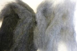 Kleurenset wol in vlies grijs tinten 50 gram