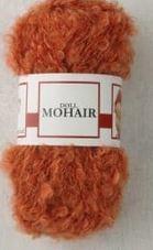 Poppenhaar mohair-boucle - per 10 gram orange
