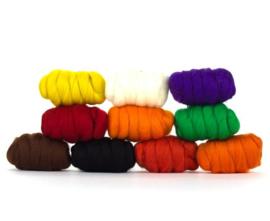 Halloween kleurenset 23 micron 10 kleuren a 25 gram per pakket