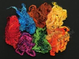 Leicester krullen 7 - 11 cm kleurenset per 20 gram