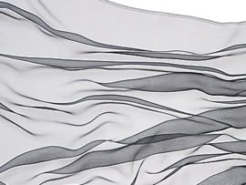 Chiffonzijde sjaal 180 x 55 cm grafiet 08