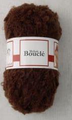 Poppenhaar mohair-boucle - per 10 gram - bruin