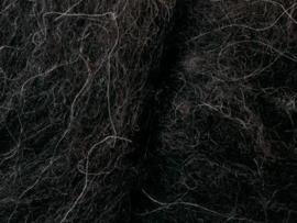 Mongolische Karakul bruin-zwart 34 mic. per 50 gram