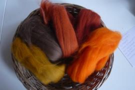 Kleurenset 5 oranjetinten 27 mic