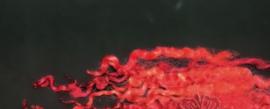 Wensleydale krullen 5 - 12 cm rode gloed per 10 gram