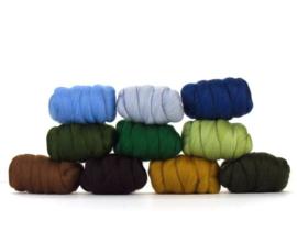 Tuin kleurenset 23 micron 10 kleuren a 25 gram per pakket