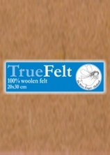 Truefelt 20 * 30 cm 515 beertjes bruin