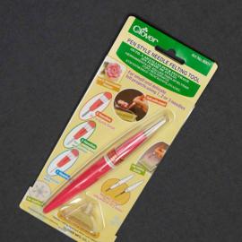 Viltnaald houder penvormig (Clover) incl. 3 naalden  per stuk