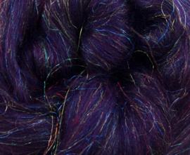 Glitter wol aubergine per 25 gram