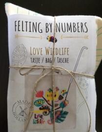 Tas love wildlife: naaldvilten by numbers per pakket