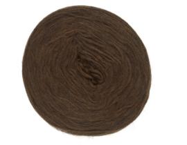 Wol voorgaren (pencil roving) per 10 gram 1032 Chocolate