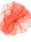 Chiffonzijde sjaal 180 x 55 cm oranjerood 21