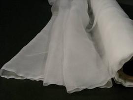 Chiffonzijde 90 cm breed per 10 cm wit