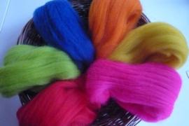 Kleurenset 6 felle kleuren  27 mic