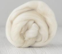 Lontwol merino 16 mic. per 10 gram  Natural white