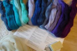 Startpakket wit, blauw, paars en turkoise tinten per pakket