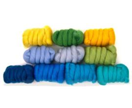 Vakantie kleurenset 23 micron 10 kleuren a 25 gram per pakket