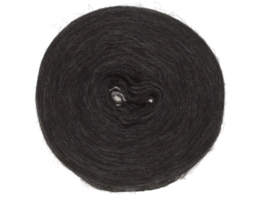 Wol voorgaren (pencil roving) per 10 gram  0005 Black Heather